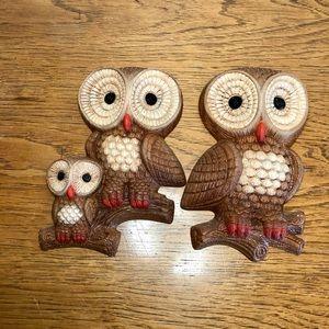 Foam Craft 1981 owl family wall lot